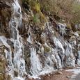 林道の氷の滝