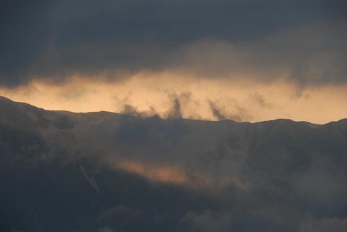 裏銀座の夕日