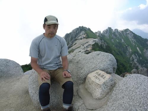 燕岳山頂記念撮影