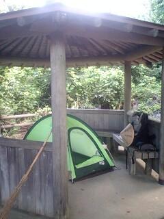 昨日の野宿場所